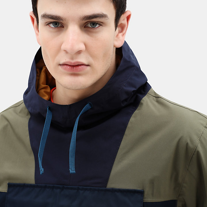 Ecoriginal Anorak for Men in Green Mix-