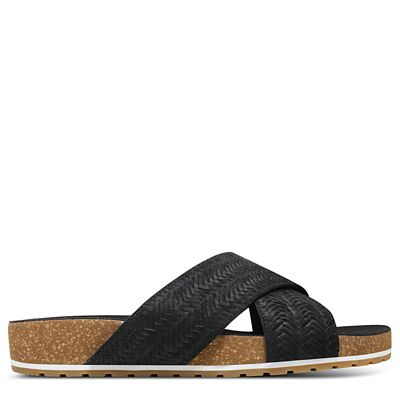 Malibu+Waves+Cross+Slides+f%C3%BCr+Damen+in+Schwarz