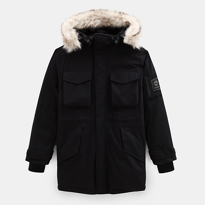 Nordic Edge Expedition Parka for Men in Black-