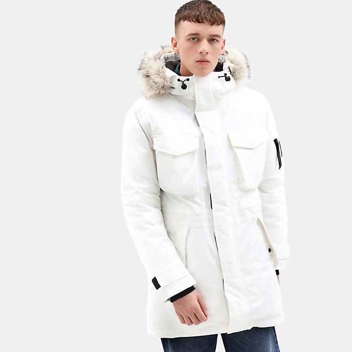 Nordic Edge Expedition Parka für Herren in Weiß-