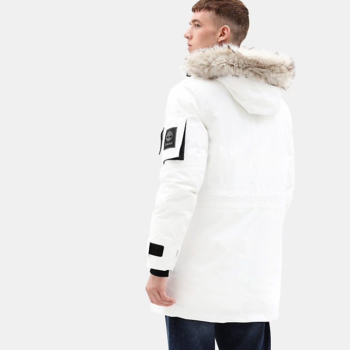 Parka da Uomo Nordic Edge Expedition in bianco-