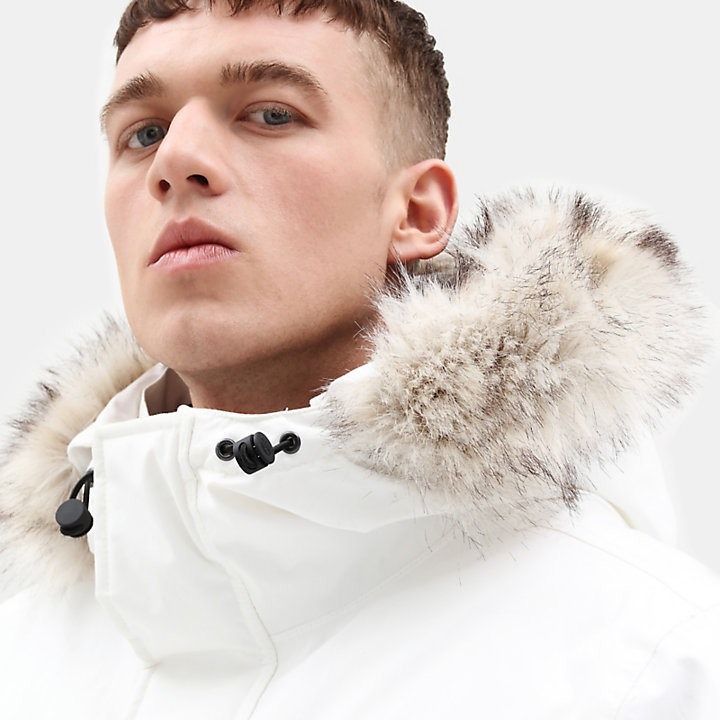 Nordic Edge Expedition Parka for Men in White-