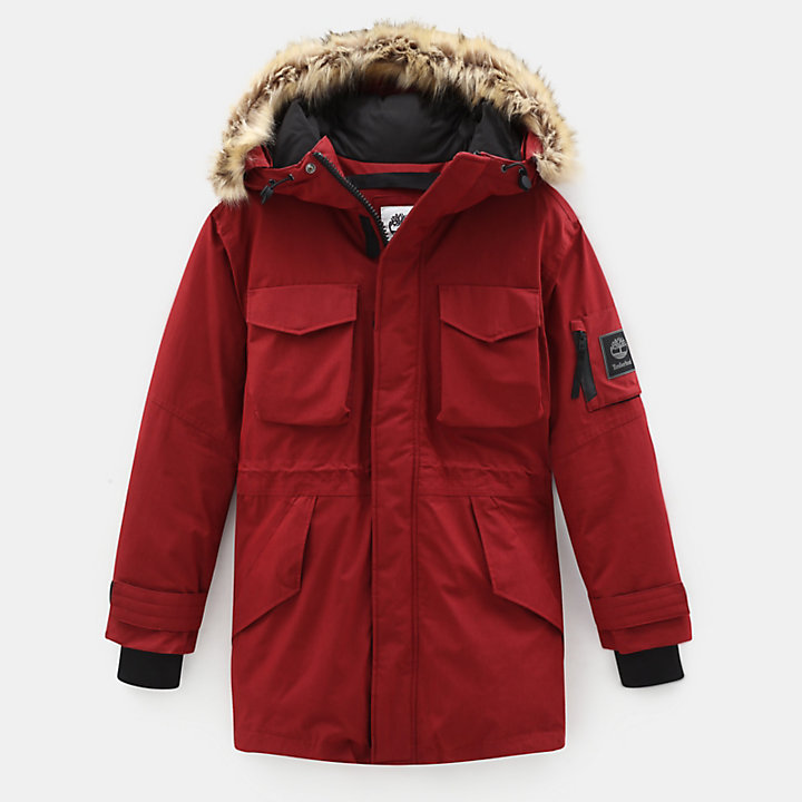 Nordic Edge Expedition Parka für Herren in Rot-