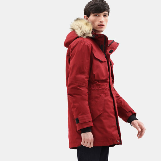 Nordic Edge Expedition Parka for Men in Red | Timberland