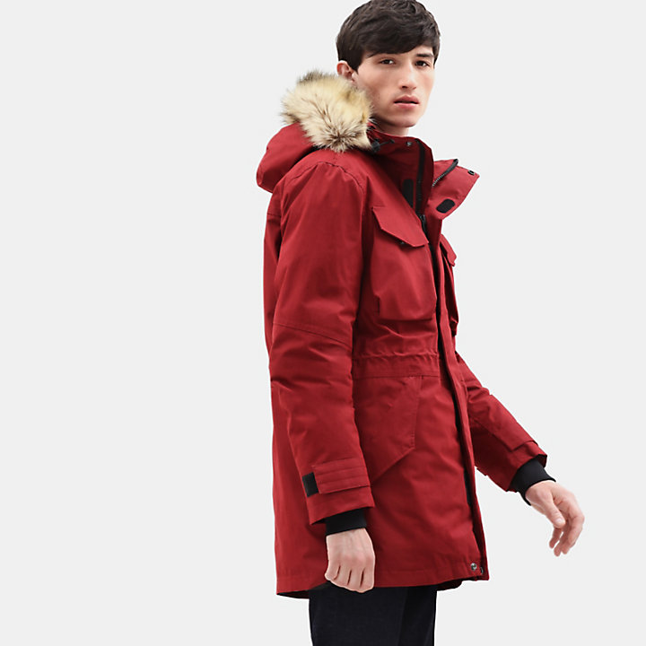 Nordic Edge Expedition Parka for Men in Red-