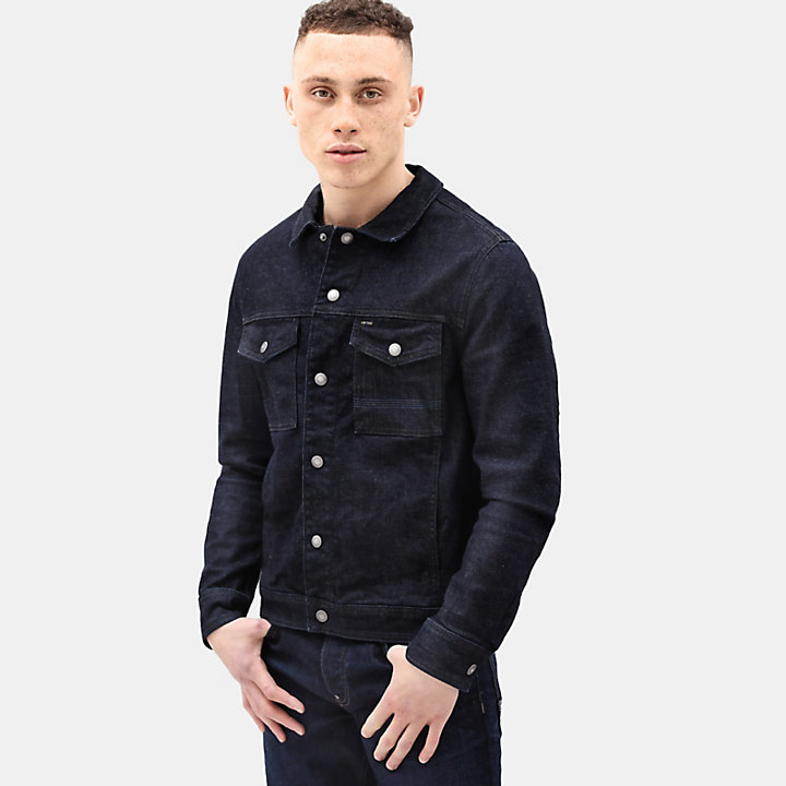 Denim Trucker Jacket for Men in Indigo-