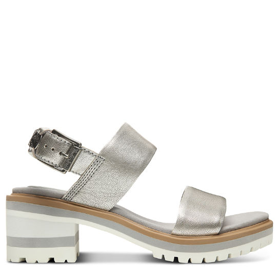Violet Marsh Strap Sandal for Women in Silver | Timberland