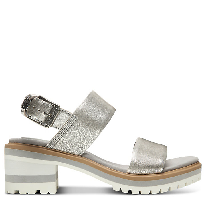Violet Marsh Strap Sandal for Women in Silver-