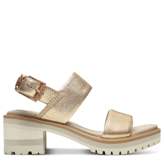 Violet Marsh Strap Sandal for Women in Gold | Timberland