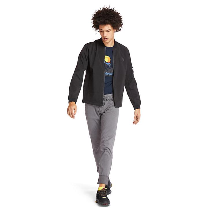 Softshell Bomber Jacket for Men in Black-