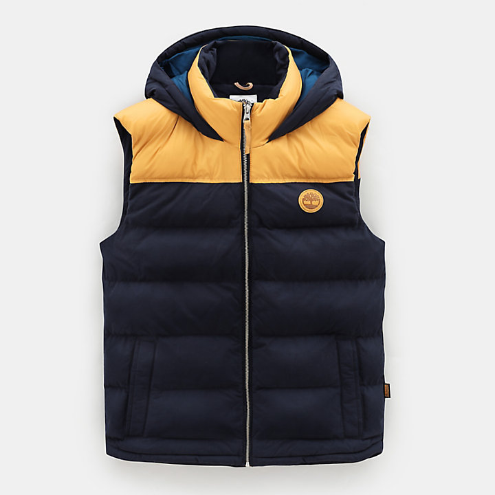 South Twin Vest for Men in Yellow/Navy-