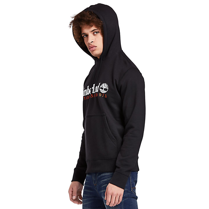 Essential 1973 Hoodie for Men in Black-