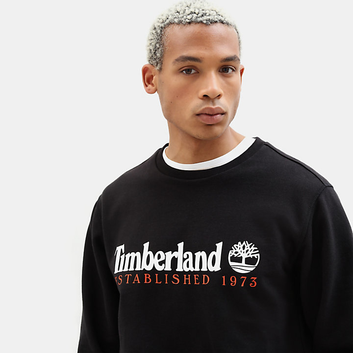 Essential Sweatshirt for Men in Black-