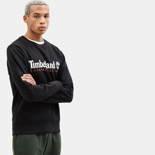 Essential Sweatshirt for Men in Black | Timberland