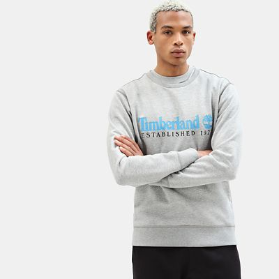 Essential+Sweatshirt+voor+Heren+in+grijs