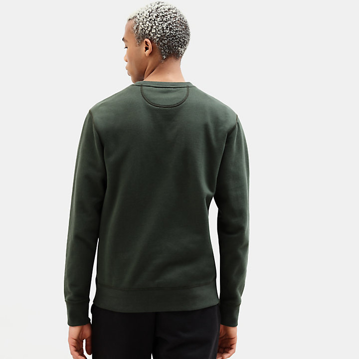 Essential Sweatshirt for Men in Dark Green-