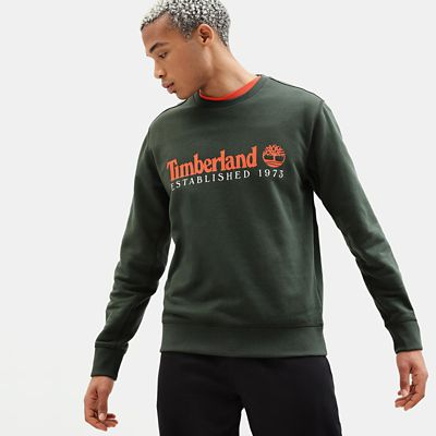 Essential+Sweatshirt+for+Men+in+Dark+Green