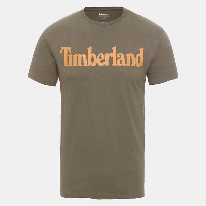 Linear Logo T-Shirt für Herren in Grün-