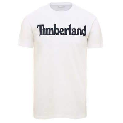 Timberland%C2%AE+Logo+T-Shirt+for+Men+in+White