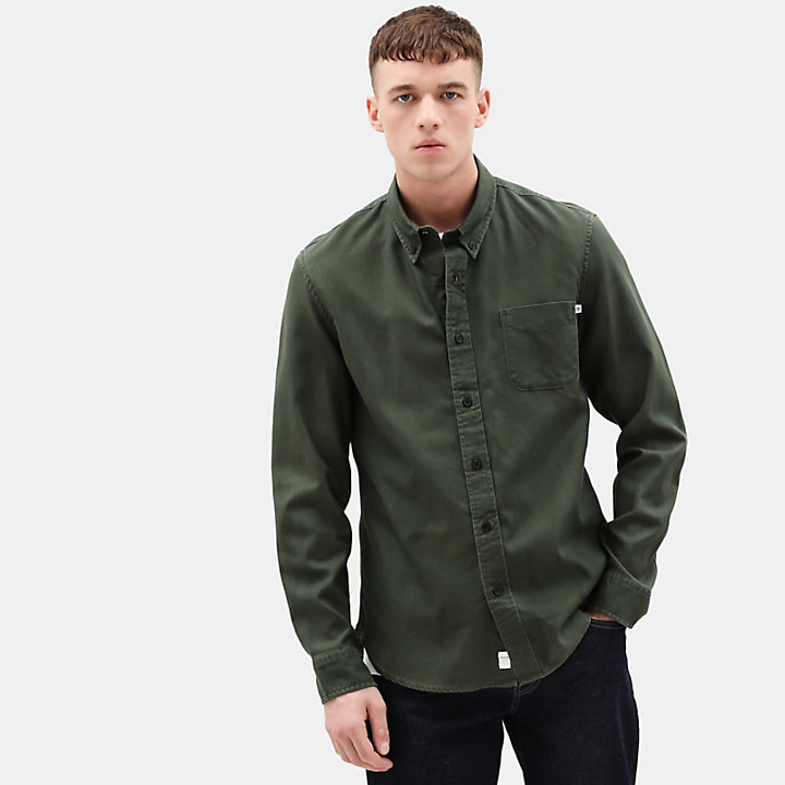 Camicia da Uomo Smith River in verde-