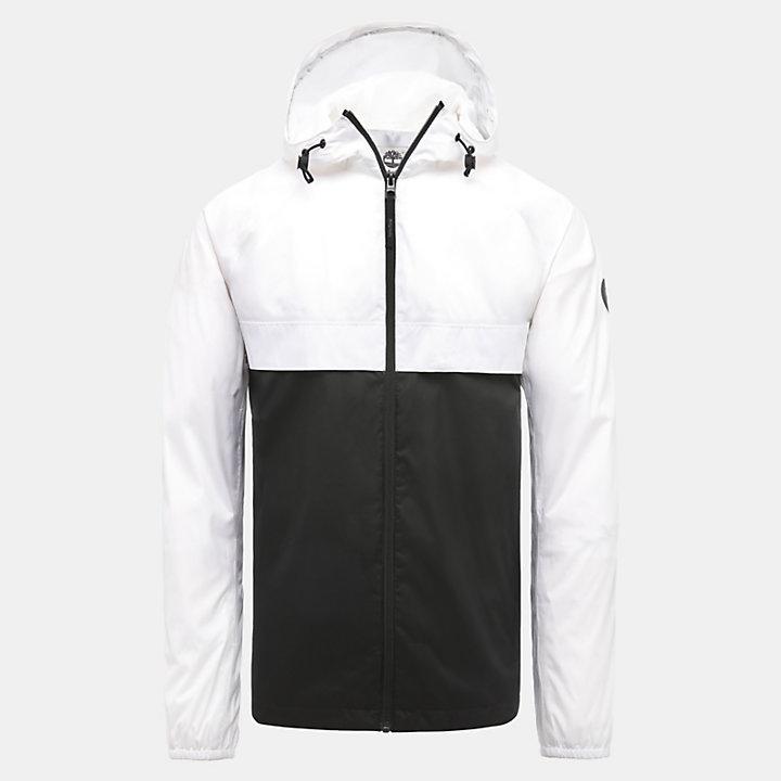 Veste à capuche imperméable pour homme en blanc-