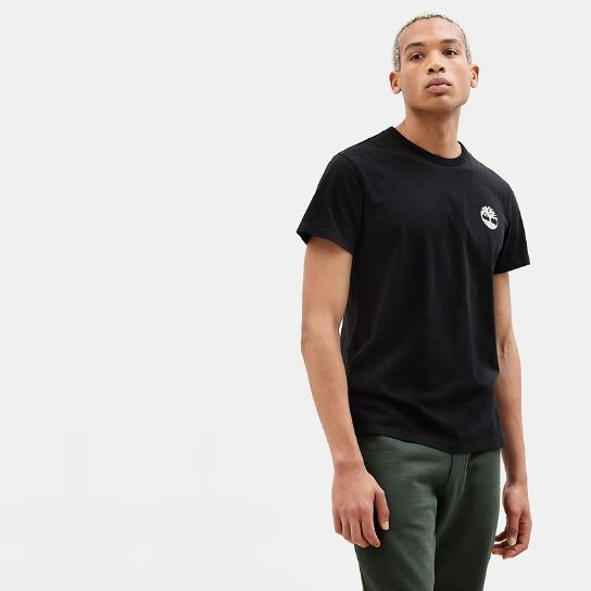 Camo Logo T-Shirt for Men in Black | Timberland