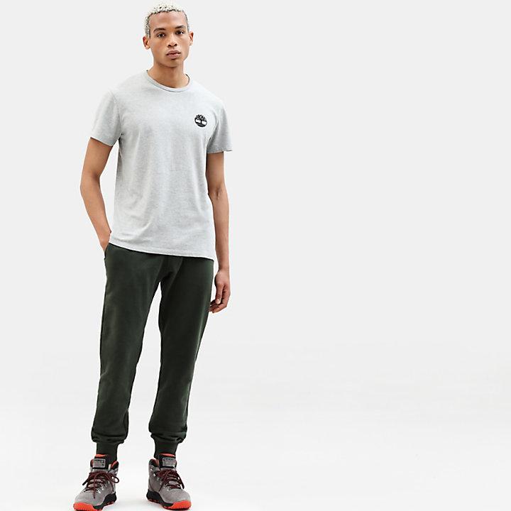 T-shirt da Uomo con Logo Mimetico in grigio-