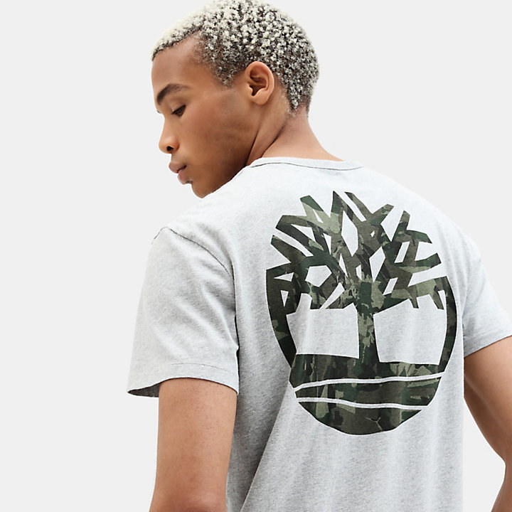 Camo Logo T-Shirt for Men in Grey-