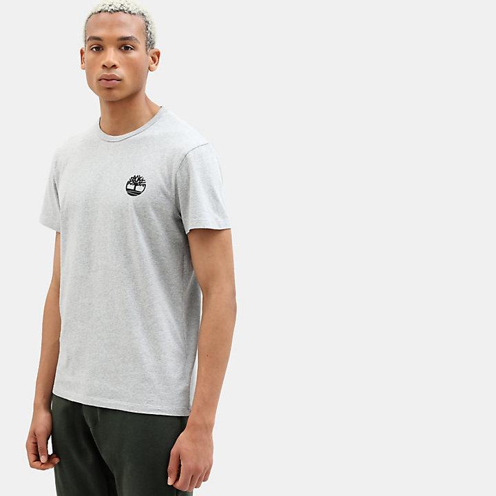T-shirt camouflage avec logo pour homme en gris-
