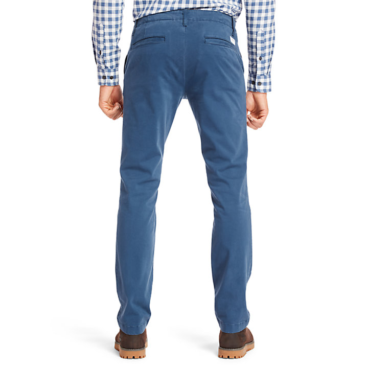 Sargent Lake Ultrastretch Satin Chinos for Men in Dark Blue-