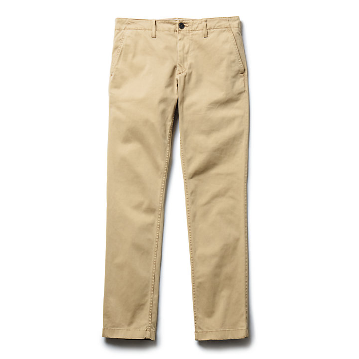 Sargent Lake Ultrastretch Satijnen Chino voor Heren in kaki-