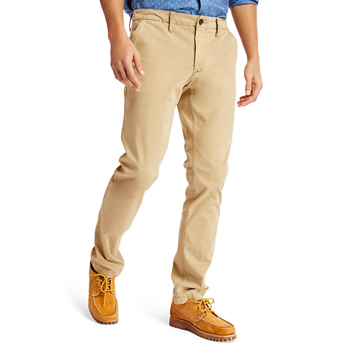 Chino satiné ultra-stretch Sargent Lake pour homme en kaki-