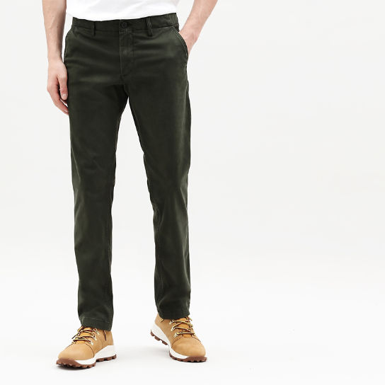 disponibilità nel Regno Unito 82f4f 3a959 Pantaloni Chino Ultrastretch da Uomo Sargent Lake in verde