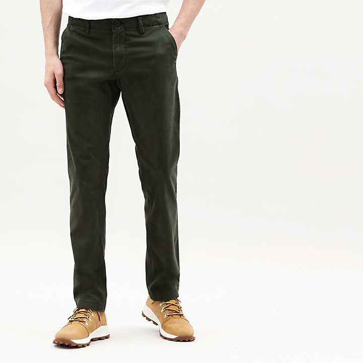 Pantaloni Chino Ultrastretch da Uomo Sargent Lake in verde-