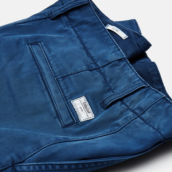 Sargent Lake Stretch Chino voor Heren in groenblauw-