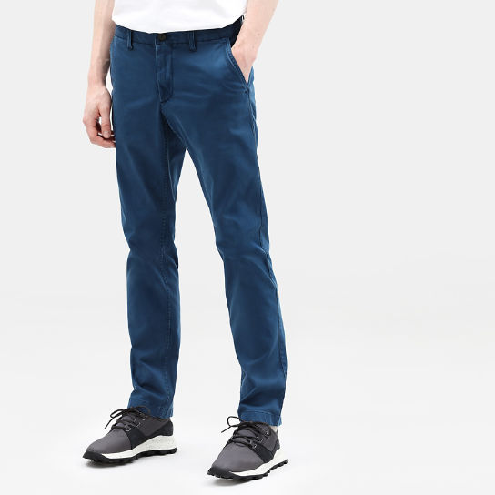 Sargent Lake Ultrastretch Chinos for Men in Teal | Timberland