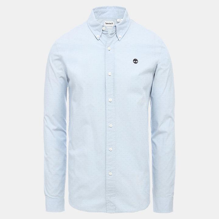Ossipee River Shirt for Men in Light Blue-