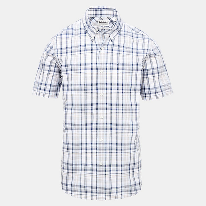 Indian River Check Shirt for Men in Light Blue-