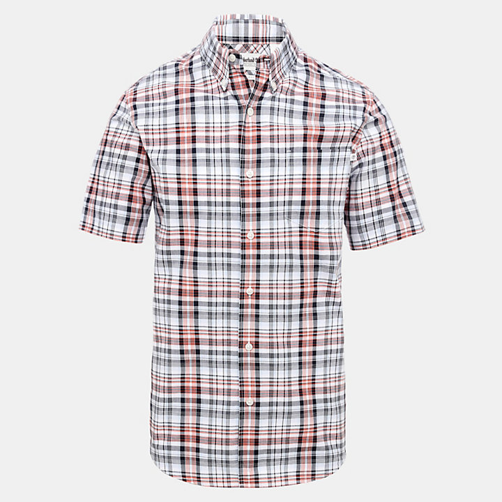 Indian River Check Shirt for Men in Red-