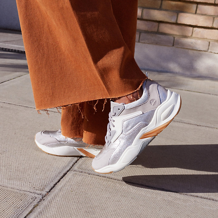 Pelle Delphiville Sneaker Da Donna ArgentoTimberland In 80kZwOPNXn