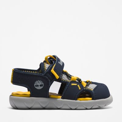 Perkins+Row+Fisherman+Sandal+for+Toddler+in+Navy