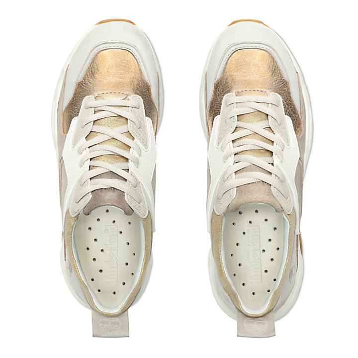 Delphiville Leather Sneaker for Women in Gold-