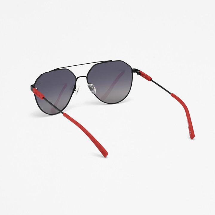 Lunettes de soleil aviateur Timberland® Marcolin en noir-