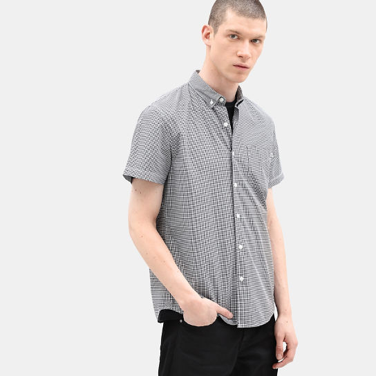 Eastham River Gingham Shirt for Men in Navy | Timberland