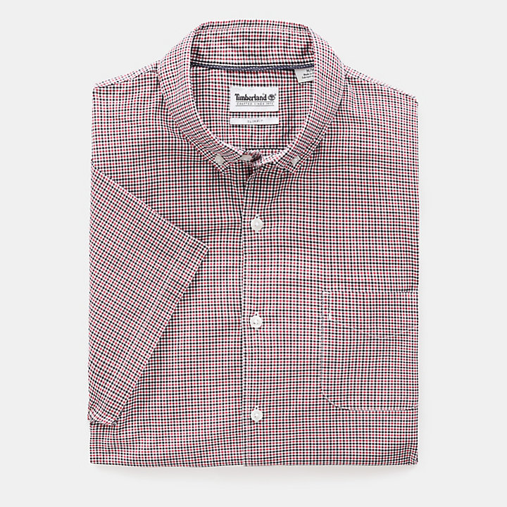 Eastham River Gingham Shirt for Men in Red-