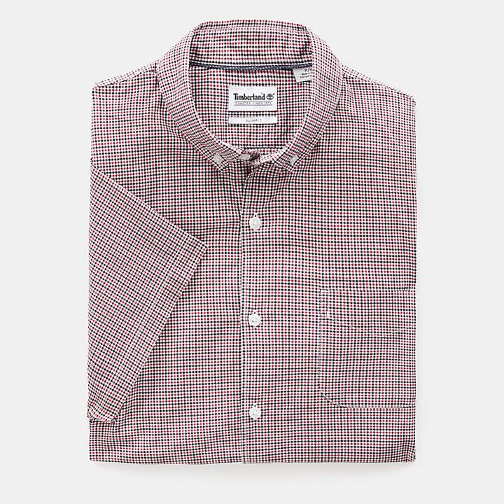Camisa a Cuadros Eastham River para Hombre en rojo-