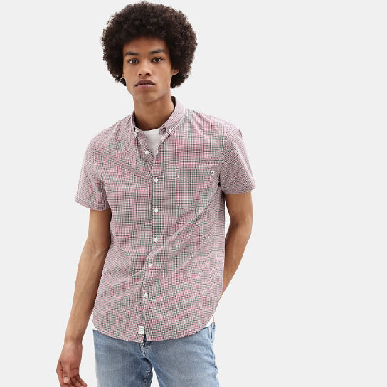 Eastham River Gingham Shirt for Men in Red | Timberland