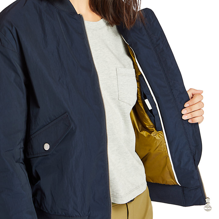 Hix Mountain Bomber Jacket for Women in Navy-