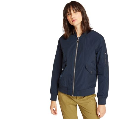 Hix+Mountain+Bomber+Jacket+for+Women+in+Navy