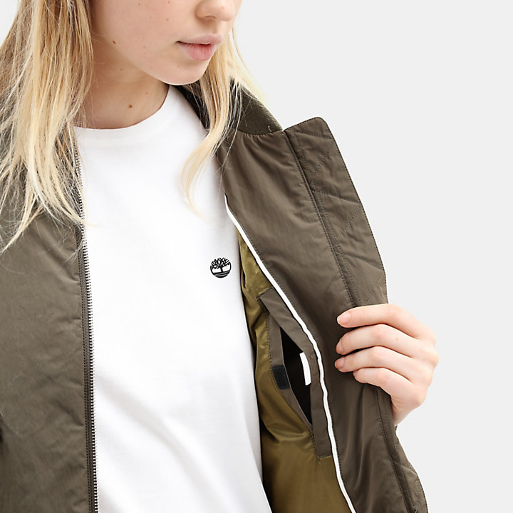 Hix Mountain Bomber Jacket for Women in Green-